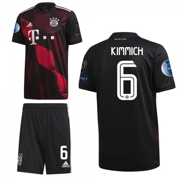 Adidas FC Bayern München Ausweichset 2020 2021 CL Logos Kinder Kimmich 6