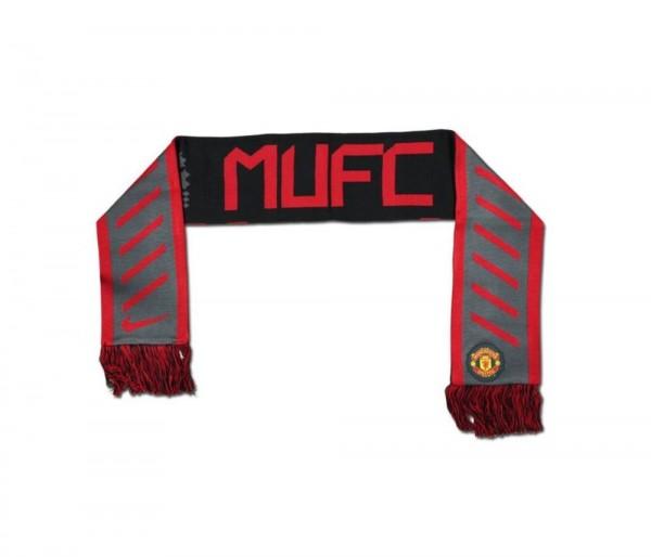 Nike Fußball Manchester United MUFC Schal Unisex Fanschal grau schwarz rot