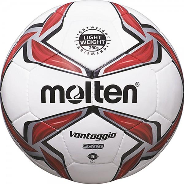 Molten Fußball F5V3329-R Leichtball weiß rot silber Große 5