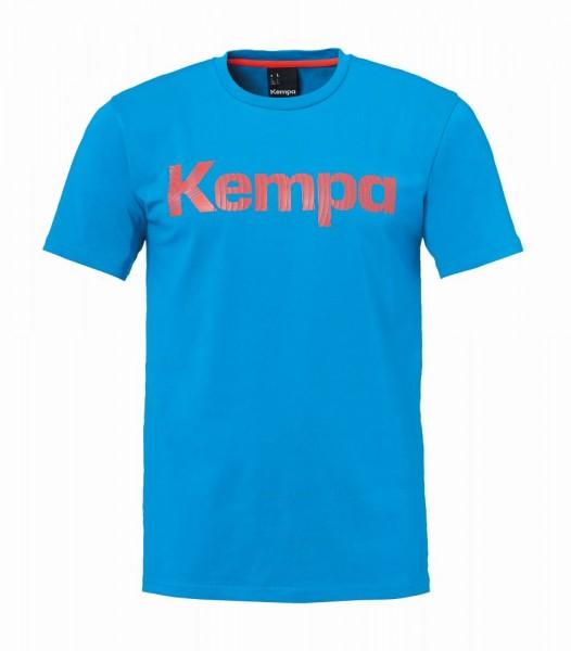 Kempa Handball Graphic T-Shirt Herren Kurzarmshirt Trainingsshirt hellblau