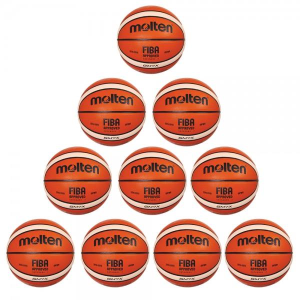 Molten Basketball BGM7X Trainingsball 10er Paket orange ivory Größe 7