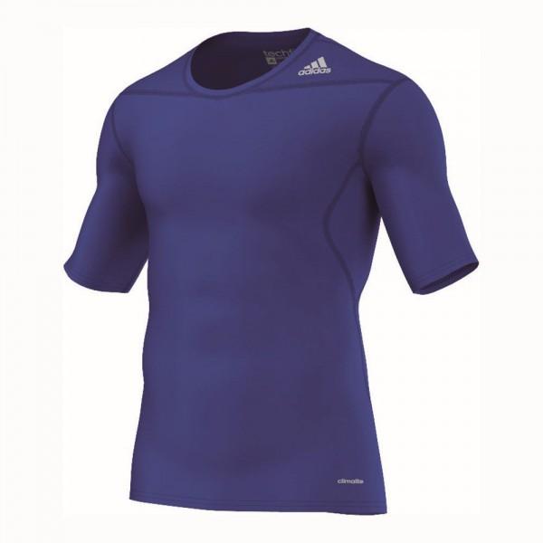 Adidas Fußball Herren Techfit Base Funktionsshirt blau