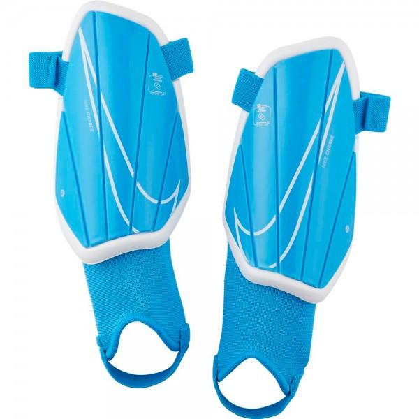 Nike Charge Fußball-Schienbeinschoner Kinder blau weiß