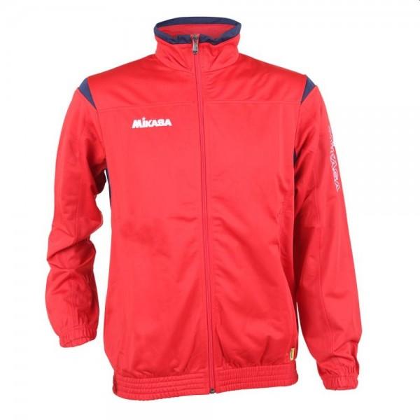 Mikasa Volleyball Trainingsjacke Erwachsene rot navy weiß