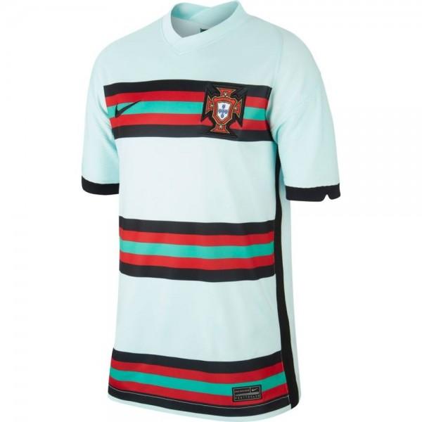 Nike Portugal Away Trikot Euro 2020 Kinder hellblau schwarz
