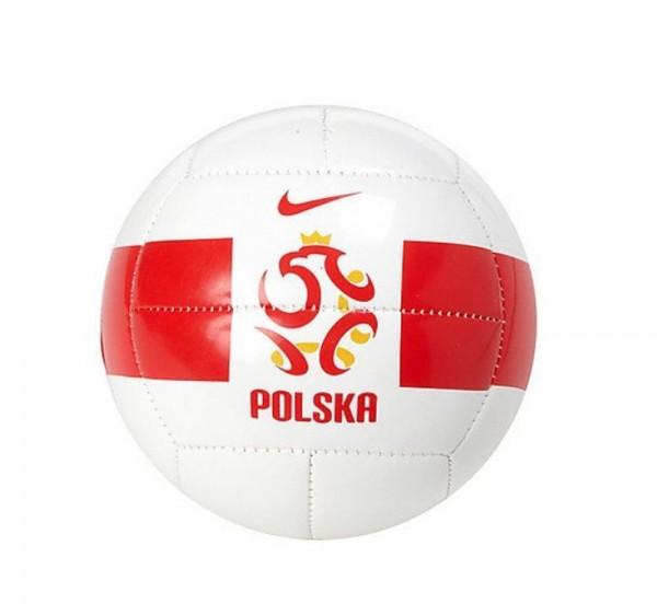 Nike Fußball Polen Mini Ball Größe 1 weiß rot