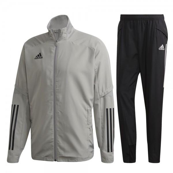 Adidas Condivo 20 Präsentationsanzug Herren hellgrau schwarz