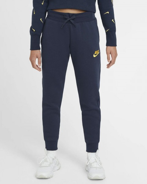 Nike Sportswear Trainingshose Kinder dunkelblau gold