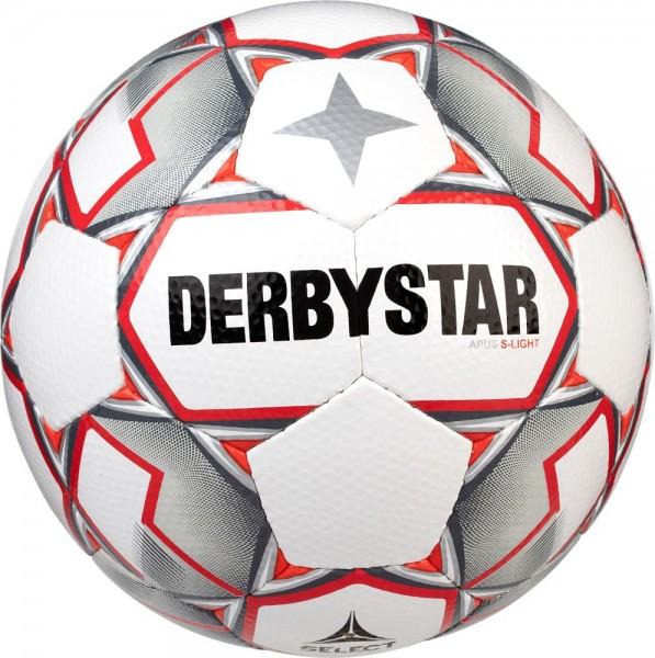 Derbystar Fußball Apus S-Light weiß grau rot