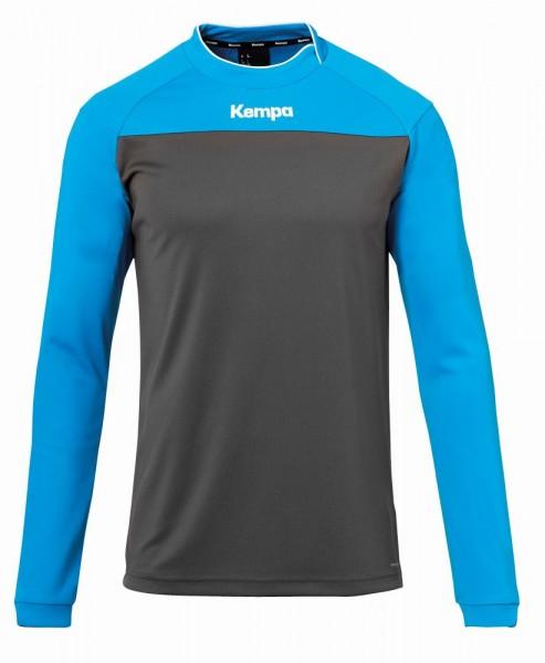 Kempa Handball Prime Langarmshirt Herren Kinder Trainingsshirt grau blau