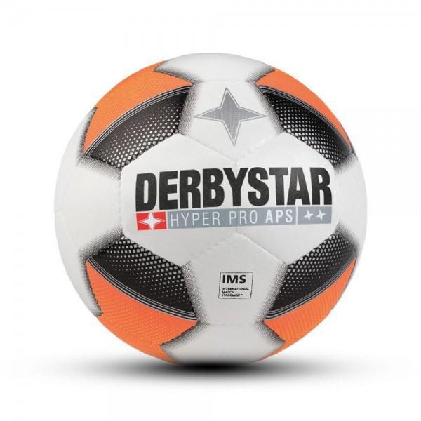 Derbystar Fußball Hyper Aps Wettspielball weiß orange silber Gr 5
