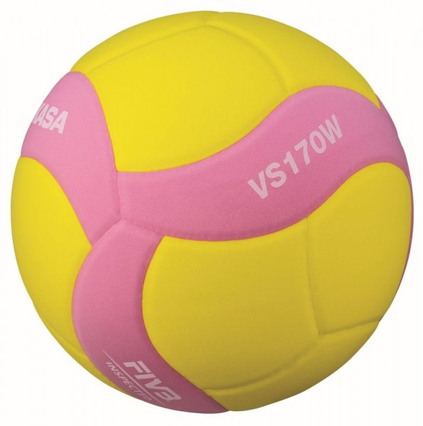 Mikasa Volleyball VS170W-Y-P Ball Gr 5 gelb pink
