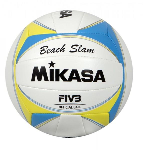 Mikasa Volleyball Beach Slam Beachvolleyball Gr 5 weiß blau