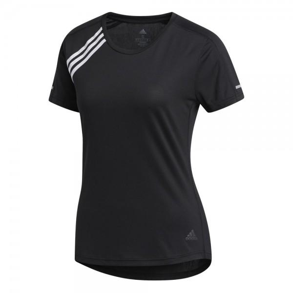 Adidas 3-Streifen Run T-Shirt Damen schwarz
