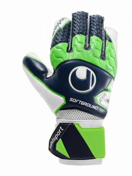 Uhlsport Fußball Soft HN Comp Torwart Handschuhe Herren marine grün weiß