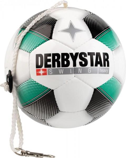 Derbystar Fußball Spezialball Swing Heavy Trainingsball weiß schwarz türkis Gr 5