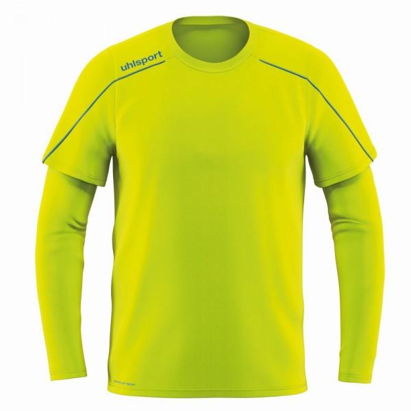 Uhlsport Fußball Stream 22 Torwart Trikot Kinder Langarmshirt gelb blau