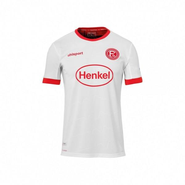 Uhlsport Fortuna Düsseldorf Auswärtstrikot 2020 2021 Sponsor Logo Kinder weiß