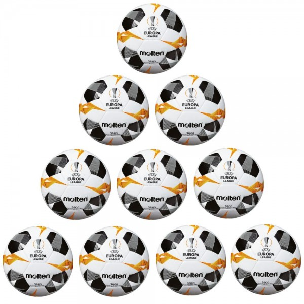 Molten Fußball F5U3600-G9 UEFA 2019 2020 Replika Trainingsball 10er Paket Gr 5