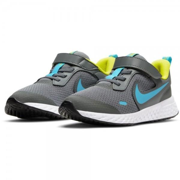Nike Revolution 5 Trainingsschuhe Kinder grau cyan