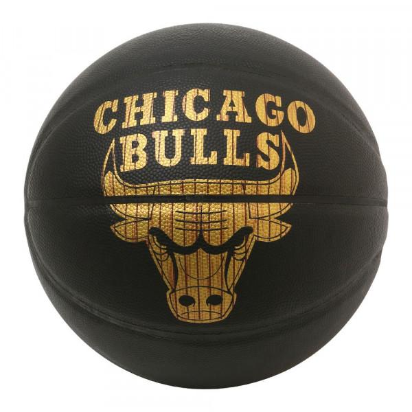 Spalding Basketball NBA Hardwood Series Bulls Gr 7 schwarz gold