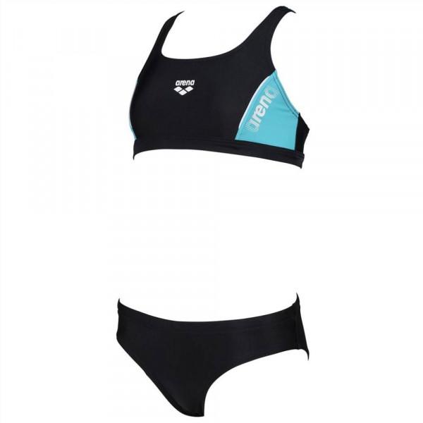 Arena Mädchen Thrice Jr Two Pieces Bikini schwarz blau weiß