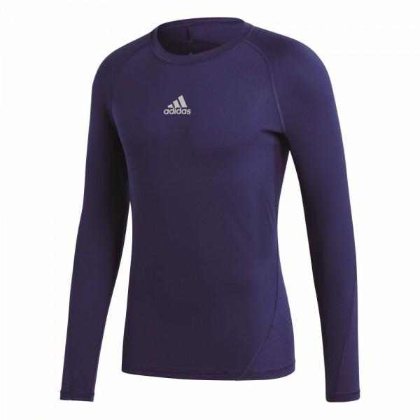 Adidas Fußball Alphaskin Langarmshirt Herren Unterziehshirt Funktionsshirt dunkelblau