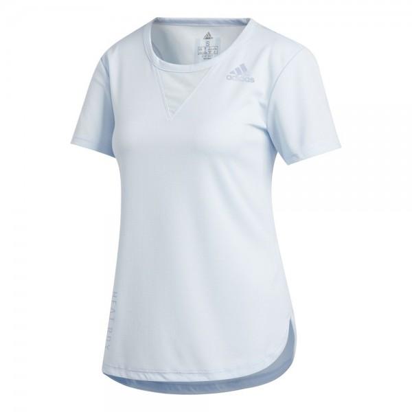 Adidas HEAT.RDY Training 3-Streifen T-Shirt Damen hellblau