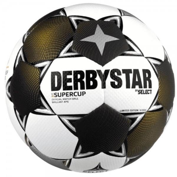 Derbystar Fußball Supercup Brillant APS 2020 weiß gold silber Gr 5