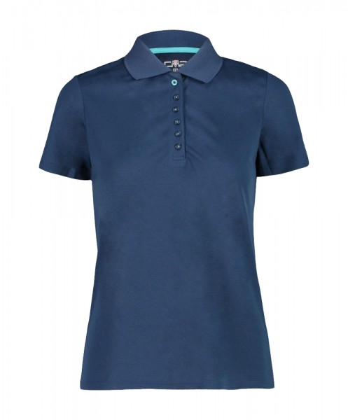 CMP Pique-Poloshirt Damen dunkelblau