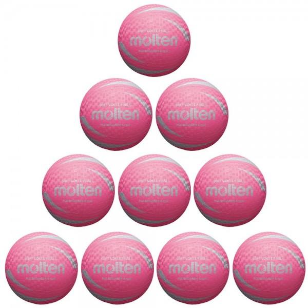 Molten Softball S2V1250-P Soft Volleyball 10er Paket rosa