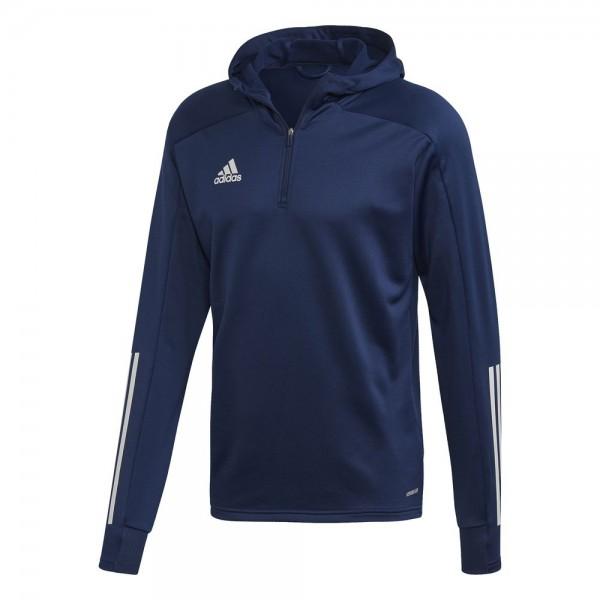 Adidas Fußball Condivo 20 Track Hoodie Pullover Herren Kapuzensweatshirt navy weiß