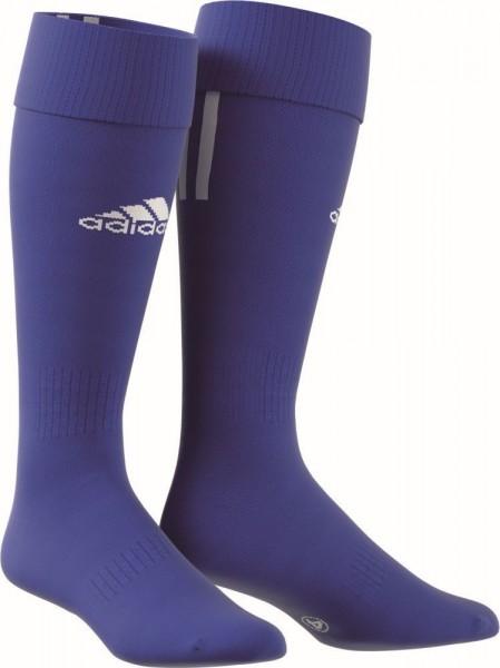 Adidas Fußball Santos 3 Streifen Stutzen Socken Herren blau weiß