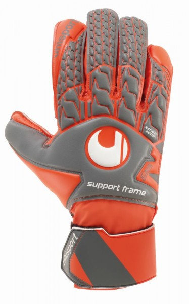 Uhlsport Aerored Soft SF Torwarthandschuhe Herren grau orange