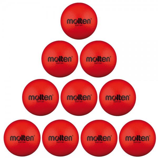 Molten Softball Soft-HR 160 mm 100 g 10er Paket rot