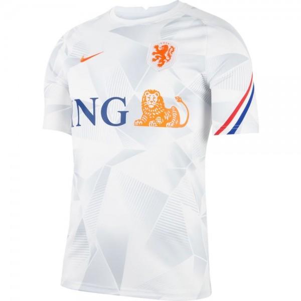 Nike Niederlande Kurzarm Fußballoberteil Euro 2020 Herren weiß