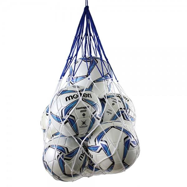 Molten Ballnetz bis zu 12 Bälle blau weiß