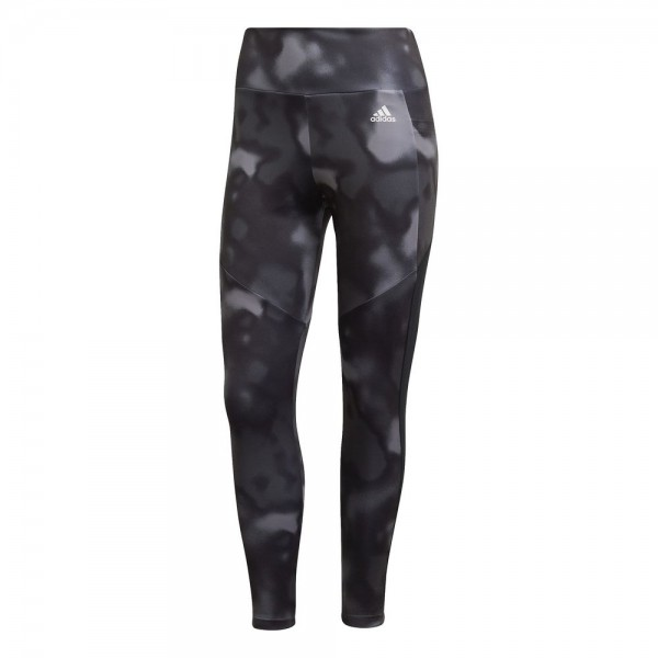 Adidas Designed To Move Allover Print 7/8 Tight Damen schwarz weiß