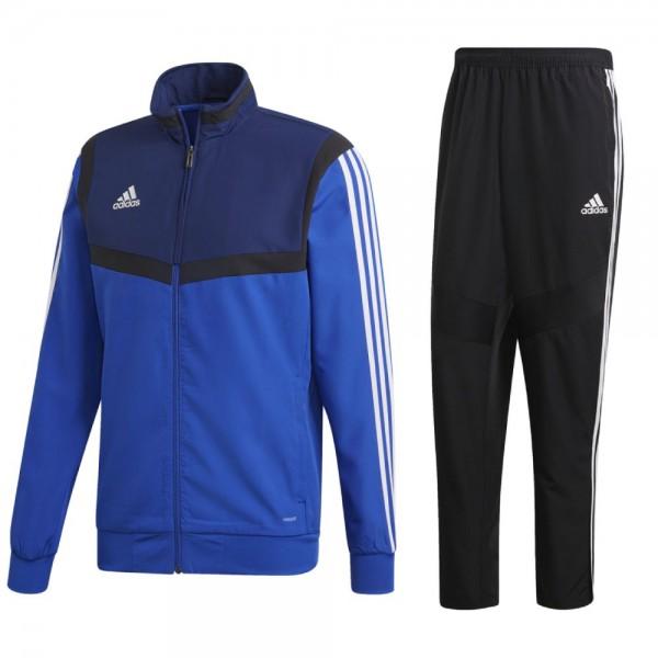 Adidas Fußball Tiro 19 Präsentationsanzug Jacke Hose Herren blau