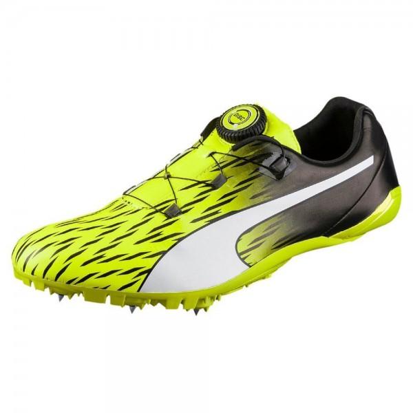 Puma Evospeed Disc 3 Spikeschuhe Erwachsene Sprintschuh Laufschuh gelb schwarz