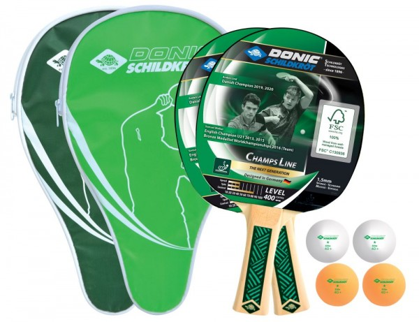 Donic-Schildkröt Tischtennis-Cover-Set Champs Line 400 FSC grün