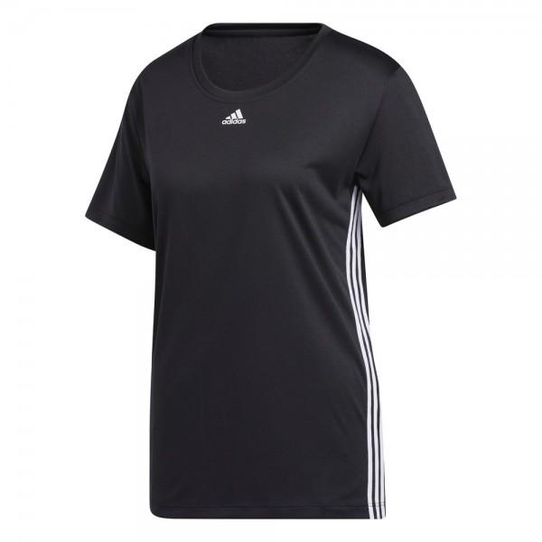Adidas 3-Streifen T-Shirt Damen schwarz