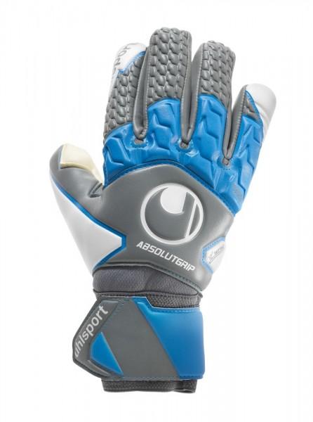 Uhlsport Fußball Absolutgrip Tight HN Torwart Handschuhe Herren grau blau weiß