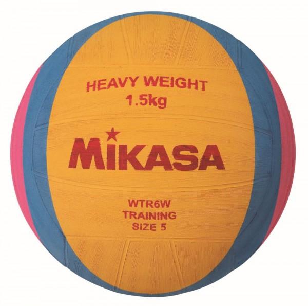 Mikasa Wasserball WTR6W 1,5 kg Training Waterpolo Gr 5 gelb blau pink