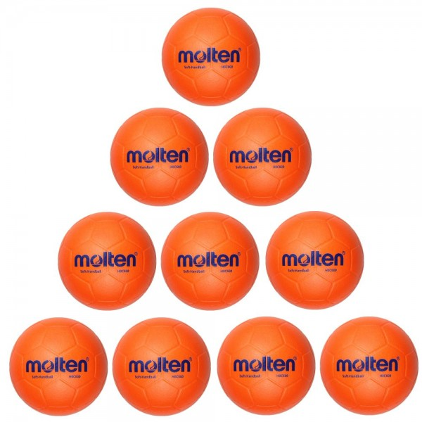 Molten Softball H0C600 Soft Handball 10er Paket orange