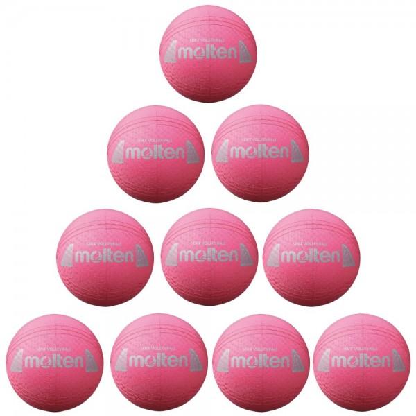 Molten S2Y1250-P Volleyball Softball pink 160g 10er Paket