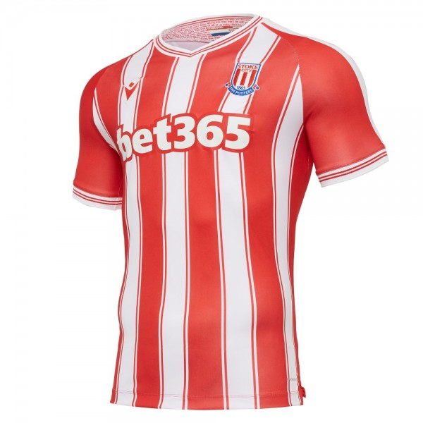 Macron Stoke City Heimtrikot 2020 2021 Herren rot weiß