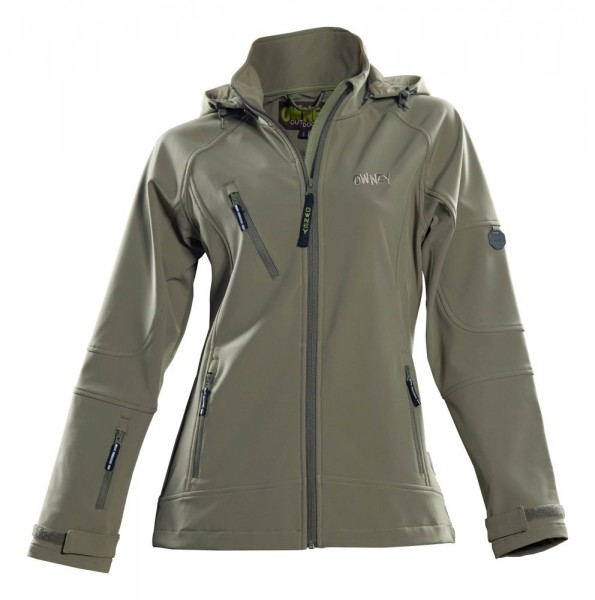 Owney Outdoor Softshell Jacke Damen Matu Hood Frauen Sportjacke khaki