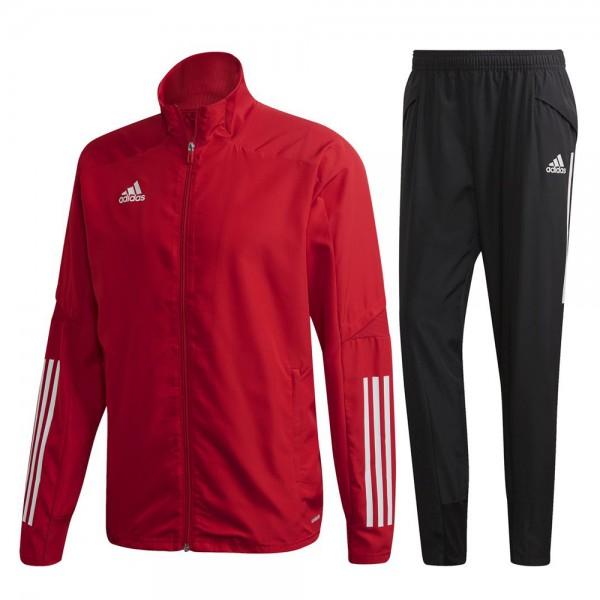 Adidas Condivo 20 Präsentationsanzug Herren rot schwarz