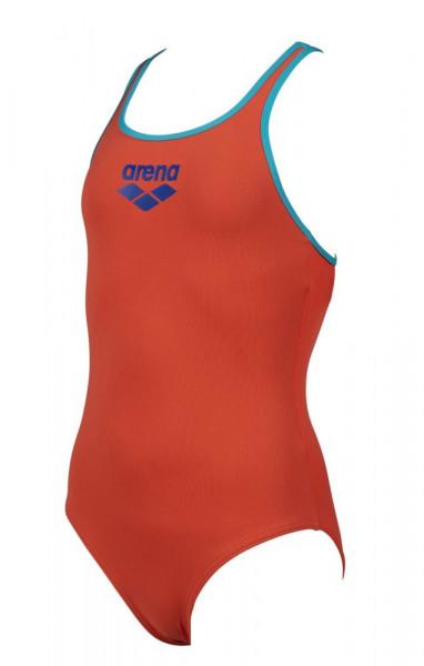 Arena Mädchen Big Logo Badeanzug orange blau